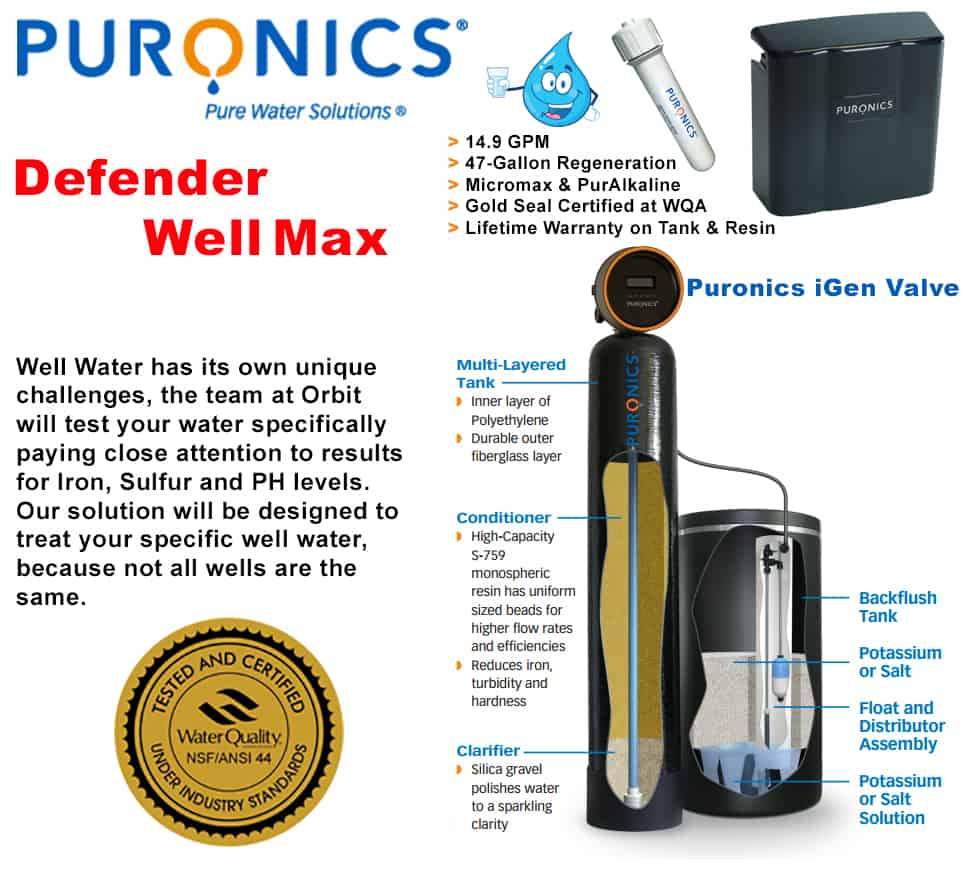 iron filtration well water purification well water treatment